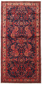 Nahavand Matta 110X225 Äkta Orientalisk Handknuten Mörkröd/Svart (Ull, Persien/Iran)
