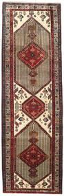 Sarab Matta 108X340 Äkta Orientalisk Handknuten Hallmatta Mörkbrun/Ljusbrun (Ull, Persien/Iran)