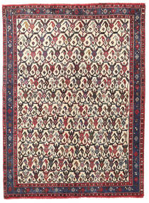 Afshar/Sirjan Matta 127X168 Äkta Orientalisk Handknuten Mörkbrun/Beige (Ull, Persien/Iran)