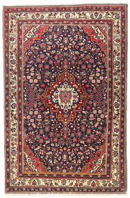 Jozan Matta 107X167 Äkta Orientalisk Handknuten Beige/Mörklila (Ull, Persien/Iran)