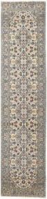 Keshan Patina Matta 94X408 Äkta Orientalisk Handknuten Hallmatta Ljusgrå/Mörkgrå (Ull, Persien/Iran)