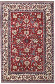 Yazd Patina Matta 200X300 Äkta Orientalisk Handknuten Ljusgrå/Mörkröd (Ull, Persien/Iran)
