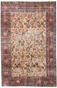 Mashad Patina Matta 185X285 Äkta Orientalisk Handknuten Ljusbrun/Mörkgrå (Ull, Persien/Iran)
