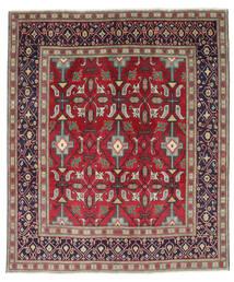 Tabriz Patina Matta 195X232 Äkta Orientalisk Handknuten Mörklila/Röd (Ull, Persien/Iran)