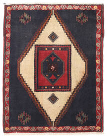 Klardasht Matta 88X110 Äkta Orientalisk Handknuten Mörkgrå/Mörkröd (Ull, Persien/Iran)