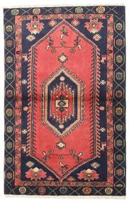 Klardasht Matta 98X150 Äkta Orientalisk Handknuten Röd/Svart (Ull, Persien/Iran)