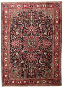 Heriz Matta 205X290 Äkta Orientalisk Handknuten Mörkröd/Svart (Ull, Persien/Iran)