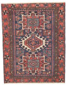 Heriz Patina Matta 96X123 Äkta Orientalisk Handknuten Mörkgrå/Roströd (Ull, Persien/Iran)