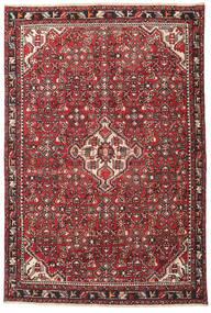 Hamadan Patina Matta 135X202 Äkta Orientalisk Handknuten Mörkbrun/Röd (Ull, Persien/Iran)