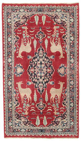 Mashad Patina Matta 104X182 Äkta Orientalisk Handknuten Röd/Mörkgrå (Ull, Persien/Iran)
