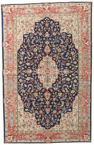 Kerman Patina Matta 149X236 Äkta Orientalisk Handknuten Mörklila/Mörkröd (Ull, Persien/Iran)