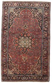 Bidjar Matta 129X212 Äkta Orientalisk Handknuten Mörkröd/Mörkbrun (Ull, Persien/Iran)