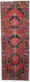 Hamadan Patina Matta 102X287 Äkta Orientalisk Handknuten Hallmatta Mörkröd/Svart (Ull, Persien/Iran)