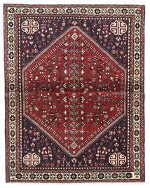 Abadeh Matta 100X128 Äkta Orientalisk Handknuten Mörkbrun/Mörkröd (Ull, Persien/Iran)