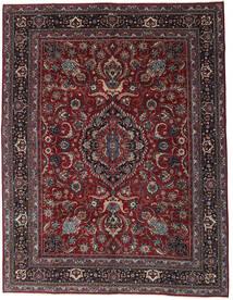Mashad Patina Matta 304X398 Äkta Orientalisk Handknuten Mörkröd/Mörkgrå Stor (Ull, Persien/Iran)