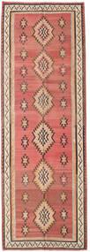 Kelim Fars Matta 155X460 Äkta Orientalisk Handvävd Hallmatta Mörkröd/Mörkbrun (Ull, Persien/Iran)