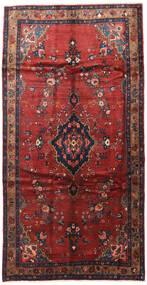 Hamadan Matta 165X300 Äkta Orientalisk Handknuten Hallmatta Mörkröd/Mörkblå (Ull, Persien/Iran)