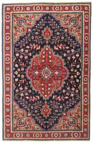 Tabriz Patina Matta 98X150 Äkta Orientalisk Handknuten Mörkgrå/Mörkröd (Ull, Persien/Iran)