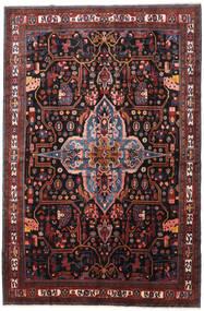 Nahavand Matta 277X420 Äkta Orientalisk Handknuten Mörkröd/Mörkbrun Stor (Ull, Persien/Iran)
