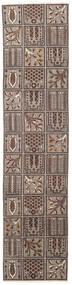 Bakhtiar Patina Matta 70X305 Äkta Orientalisk Handknuten Hallmatta Ljusgrå/Mörkbrun (Ull, Persien/Iran)
