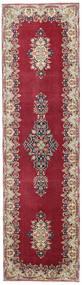 Kerman Patina Matta 90X325 Äkta Orientalisk Handknuten Hallmatta Mörkröd/Beige (Ull, Persien/Iran)