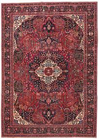 Mashad Patina Matta 257X362 Äkta Orientalisk Handknuten Mörkröd/Röd Stor (Ull, Persien/Iran)