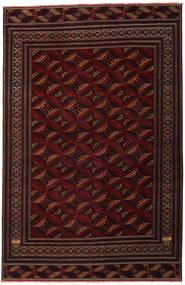 Turkaman Patina Matta 262X408 Äkta Orientalisk Handknuten Mörkröd Stor (Ull, Persien/Iran)