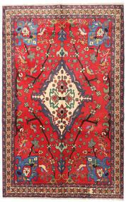 Nahavand Matta 160X253 Äkta Orientalisk Handknuten Röd/Mörkröd (Ull, Persien/Iran)