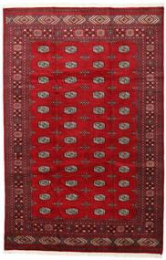 Pakistan Bokhara 2Ply Matta 202X312 Äkta Orientalisk Handknuten Röd/Mörkröd (Ull, Pakistan)