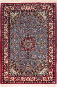 Isfahan Silkesvarp Matta 73X104 Äkta Orientalisk Handknuten Mörkröd/Brun (Ull/Silke, Persien/Iran)