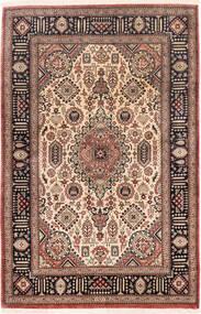 Ghom Silke Matta 75X116 Äkta Orientalisk Handknuten Mörkröd/Mörkbrun (Silke, Persien/Iran)