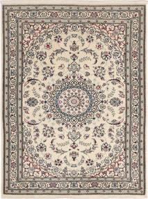Nain 6La Matta 90X117 Äkta Orientalisk Handknuten Ljusgrå/Mörkgrå (Ull/Silke, Persien/Iran)