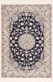 Nain 6La Matta 82X120 Äkta Orientalisk Handknuten Ljusgrå/Beige (Ull/Silke, Persien/Iran)