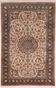 Ghom Silke Matta 75X122 Äkta Orientalisk Handknuten Mörkbrun/Brun (Silke, Persien/Iran)