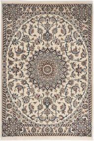 Nain 6La Matta 98X141 Äkta Orientalisk Handknuten Ljusgrå/Beige (Ull/Silke, Persien/Iran)