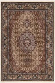 Tabriz 50 Raj Matta 100X150 Äkta Orientalisk Handknuten Mörkbrun/Brun (Ull/Silke, Persien/Iran)