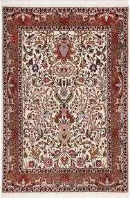 Tabriz 50 Raj Med Silke Matta 105X155 Äkta Orientalisk Handknuten Mörkbrun/Mörkröd (Ull/Silke, Persien/Iran)
