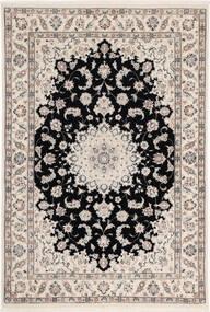 Nain 6La Matta 108X160 Äkta Orientalisk Handknuten Ljusgrå/Svart (Ull/Silke, Persien/Iran)