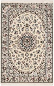 Nain 6La Matta 105X160 Äkta Orientalisk Handknuten Ljusgrå/Beige (Ull/Silke, Persien/Iran)