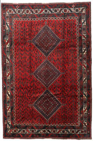 Shiraz Matta 215X315 Äkta Orientalisk Handknuten Mörkröd/Mörkbrun (Ull, Persien/Iran)
