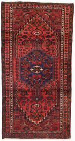 Hamadan Matta 104X202 Äkta Orientalisk Handknuten Mörkröd/Roströd (Ull, Persien/Iran)