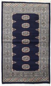 Pakistan Bokhara 2Ply Matta 93X157 Äkta Orientalisk Handknuten Svart/Ljusgrå (Ull, Pakistan)