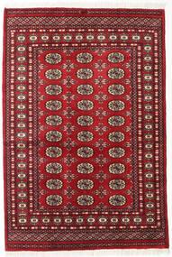 Pakistan Bokhara 2Ply Matta 125X185 Äkta Orientalisk Handknuten Mörkröd (Ull, Pakistan)