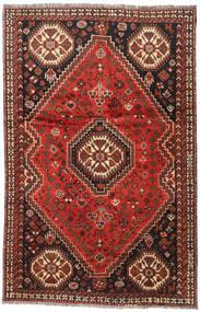 Shiraz Matta 164X248 Äkta Orientalisk Handknuten Mörkröd/Mörkbrun (Ull, Persien/Iran)