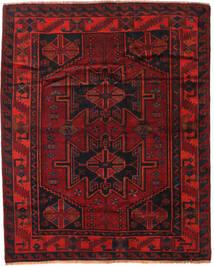 Lori Matta 168X208 Äkta Orientalisk Handknuten Mörkröd/Roströd (Ull, Persien/Iran)