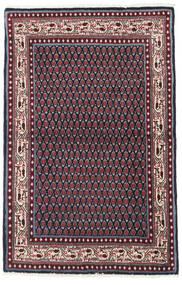Sarough Mir Matta 97X151 Äkta Orientalisk Handknuten Svart/Mörkröd (Ull, Persien/Iran)