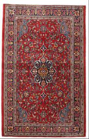 Sarough Matta 105X165 Äkta Orientalisk Handknuten Mörkröd/Mörkbrun (Ull, Persien/Iran)