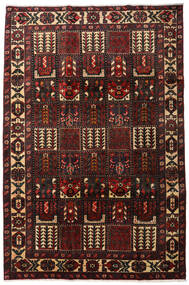 Bakhtiar Matta 205X311 Äkta Orientalisk Handknuten Mörkbrun/Mörkröd (Ull, Persien/Iran)