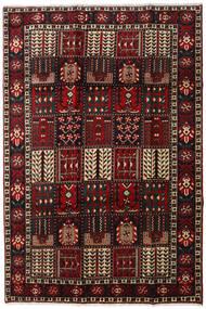 Bakhtiar Matta 205X303 Äkta Orientalisk Handknuten Mörkbrun/Mörkröd (Ull, Persien/Iran)