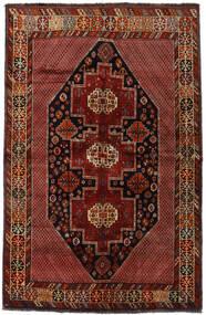 Ghashghai Matta 157X243 Äkta Orientalisk Handknuten Mörkröd (Ull, Persien/Iran)